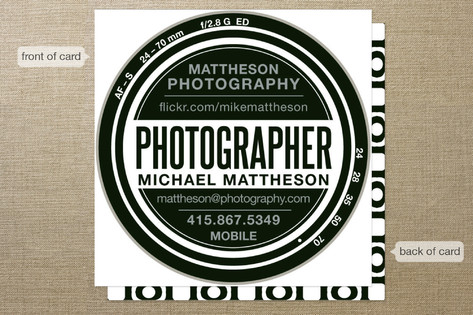 Shooter Business Cards