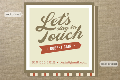 Stay in Touch Business Cards