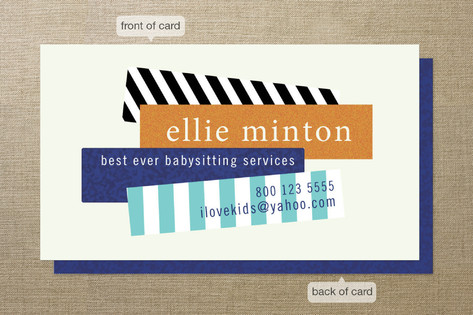 Bar Graph Business Cards