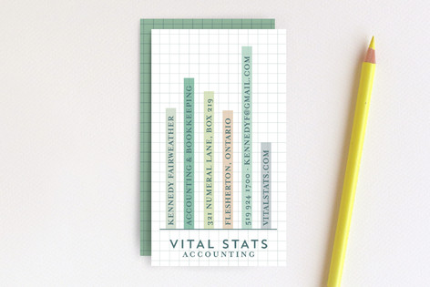 Vital Stats Business Cards