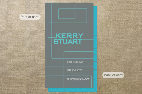 Technological Mark Business Cards