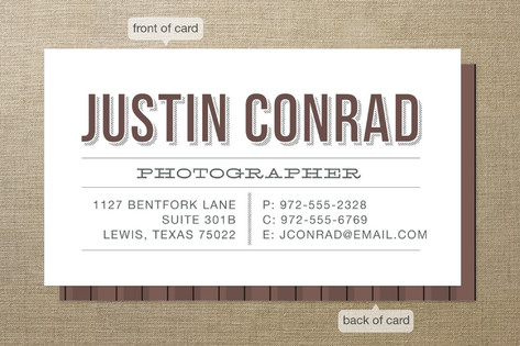Bona Fide Business Cards