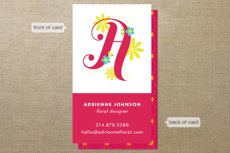 Floral Monogram Business Cards