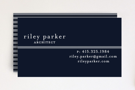 Striped Divide Business Cards