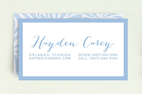 Chrysanthemum Flourish Business Cards