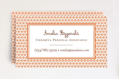 Paprika Patterned Business Cards