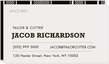 Sartorialist Business Cards