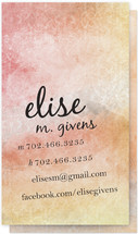 Pastel Wash Business Cards