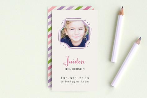 Playful Frame Business Cards