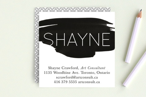 Watercolor Swatch Business Cards
