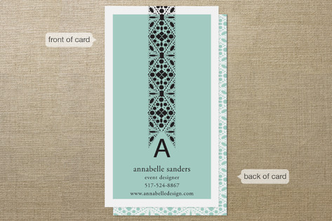 Beaded Business Cards