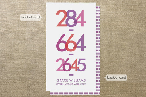 Bright Numbers Business Cards