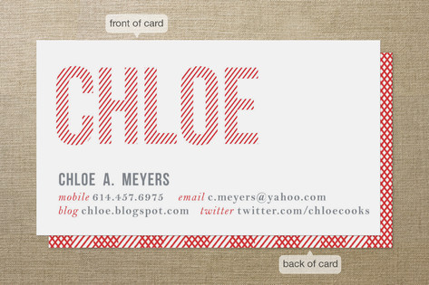 Double Take Business Cards by Carrie ONeal