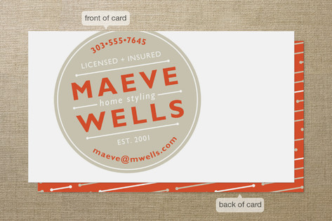 Round Stamp Business Cards