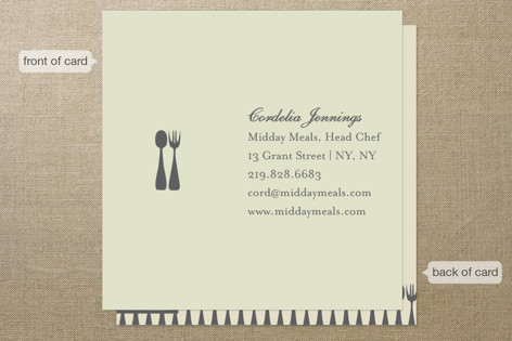 Spoon + Fork Business Cards