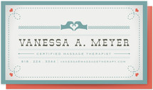 Vintage Massage Business Cards
