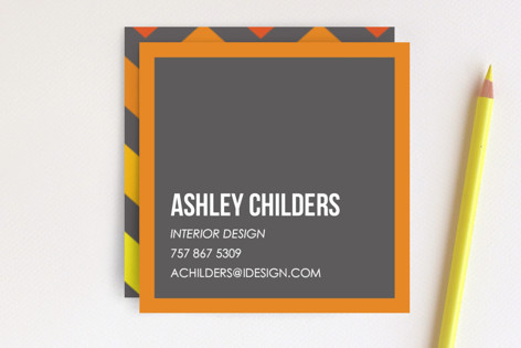 Citrus Chevrons Business Cards
