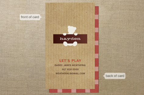 Fave Teddy Business Cards