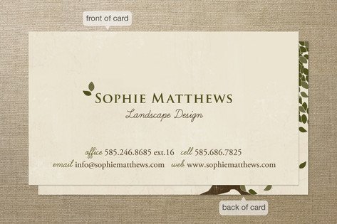 Green Leaves Business Cards
