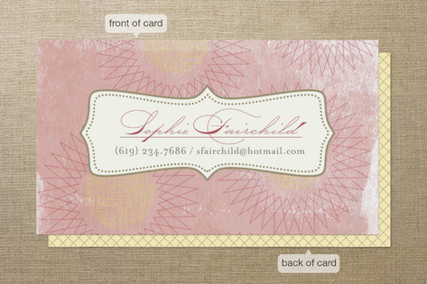 Vintage Bloom Business Cards