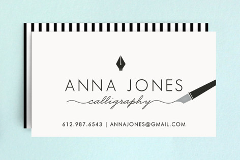 Calligrapher Business Cards