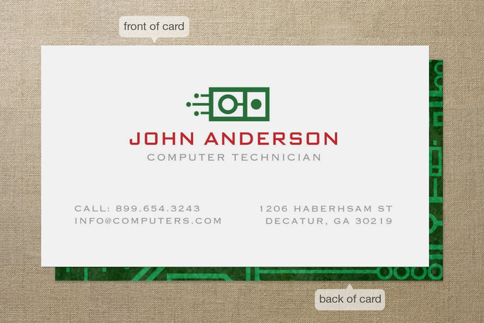 circuit board business cards by kristen smith minted