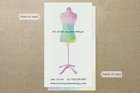 Color Splash Business Cards