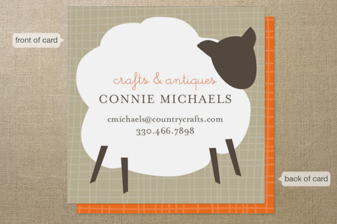 Country Crafts Business Cards