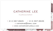 Floriculturist Business Cards
