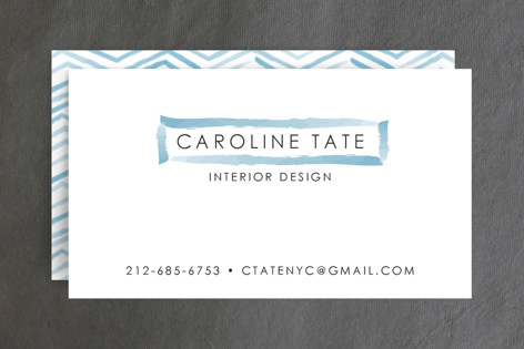 Herringbone Stroke Business Cards