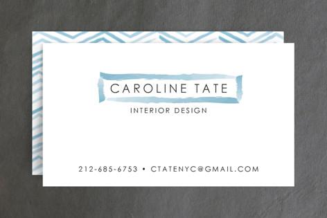 Herringbone Stroke Business Cards