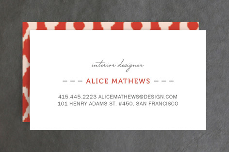 Ikat Design Business Cards