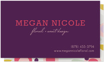 Megan Floral Business Cards