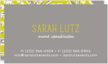 Pop Paisley Business Cards