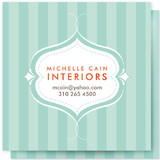 Striped Elegance Business Cards