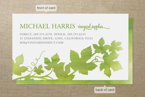 Watercolor Vineyard Business Cards