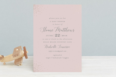 Sprinkle Foil-Pressed Baby Shower Invitations