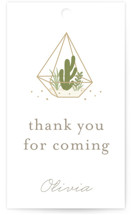 Bridal Terrariums Bridal Shower Favor Tags