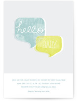 Hello Baby Baby Shower Invitations