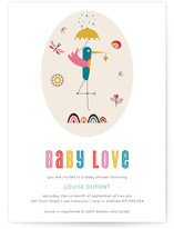 The Stork Baby Shower Invitations