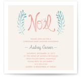 Antique Noel Baby Shower Invitations