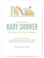 Book It Baby Shower Invitations