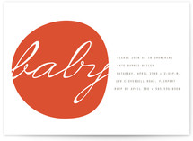 Modern Organic Baby Shower Invitations