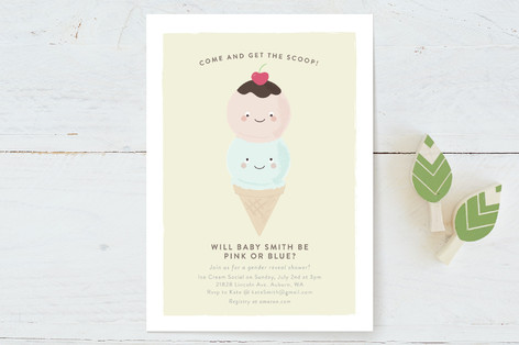 Get the Scoop Baby Shower Invitations