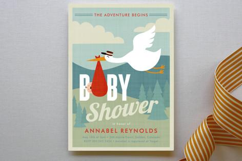 Adventurer Baby Shower Invitations