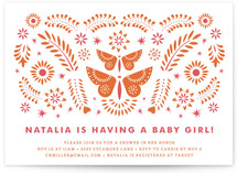 Mariposas Baby Shower Invitations