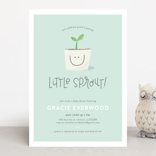 Little Sprout Baby Shower Invitations