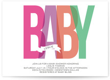 Bold Baby Baby Shower Invitations