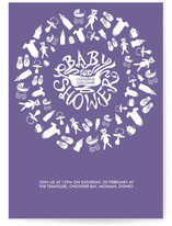 Baby Weave Baby Shower Invitations