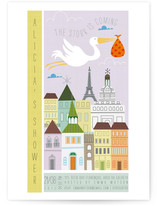 Babies are from Paris Baby Shower Invitations